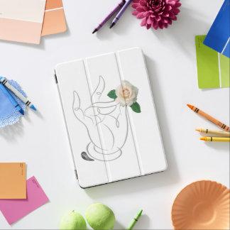 Capa Para iPad Pro Cheiro de Jitaku caixa do iPad branco dos rosas a