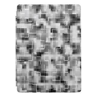 Capa Para iPad Pro Cinzas brancas pretas abstratas