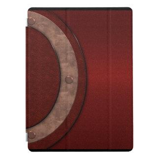 Capa Para iPad Pro Cobrir vermelho do iPad do olhar do couro & do