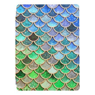 Capa Para iPad Pro Escalas brilhantes azuis verdes da sereia do