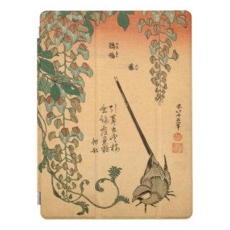Capa Para iPad Pro Glicínias do vintage de Hokusai e arte de