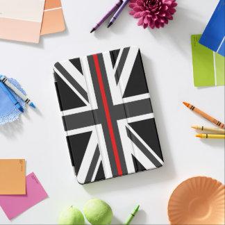 Capa Para iPad Pro Linha vermelha fina bandeira do Reino Unido
