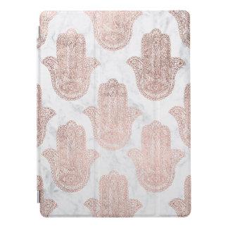Capa Para iPad Pro Mármore floral do branco da mão do hamsa do laço