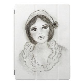 Capa Para iPad Pro Menina Ruffled do Flapper