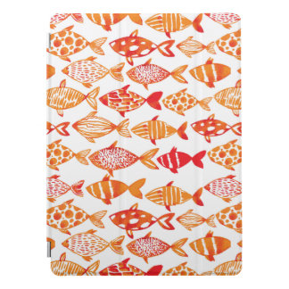 Capa Para iPad Pro Teste padrão alaranjado brilhante dos peixes da