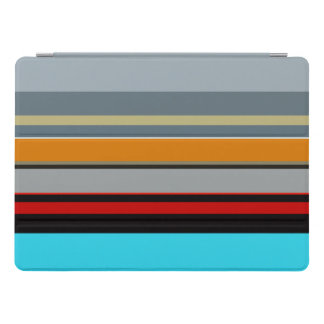 Capa Para iPad Pro Teste padrão listrado multicolorido de prata azul