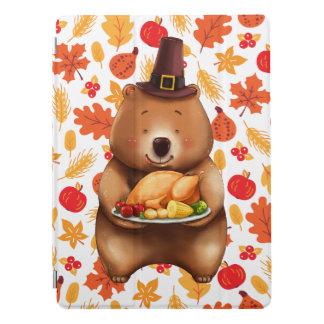 Capa Para iPad Pro urso do pilgram com fundo festivo