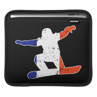 Capa Para iPad SNOWBOARDER Tricolor francês (branco)