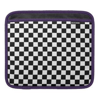 Capa Para iPad Tabuleiro de damas preto e branco
