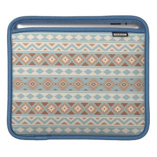 Capa Para iPad Terracottas de creme azuis astecas de Ptn IIIb da