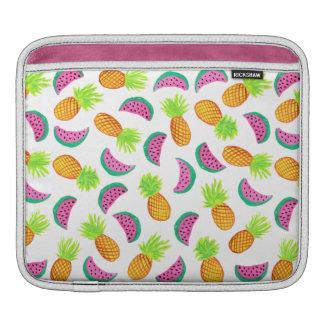 Capa Para iPad teste padrão colorido da melancia do abacaxi da