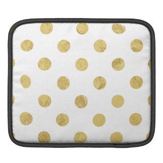 Capa Para iPad Teste padrão de bolinhas elegante da folha de ouro