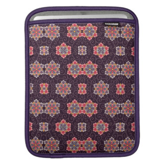 Capa Para iPad Teste padrão de flor colorido no roxo escuro