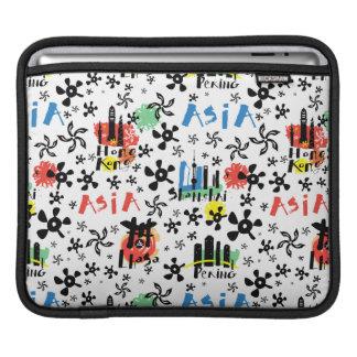 Capa Para iPad Teste padrão dos símbolos de Ásia |
