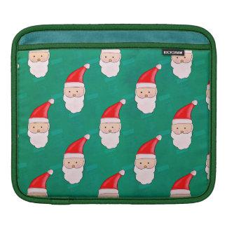 Capa Para iPad Verde bonito do teste padrão do feriado do Natal