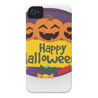Capa Para iPhone 4 Case-Mate Abóbora feliz do Dia das Bruxas