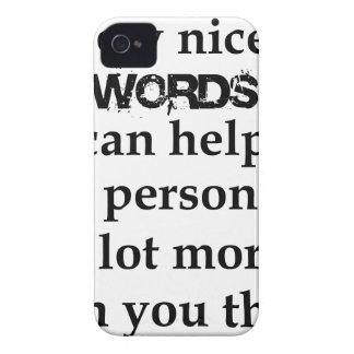 Capa Para iPhone 4 Case-Mate algumas palavras agradáveis podem ajudar uma