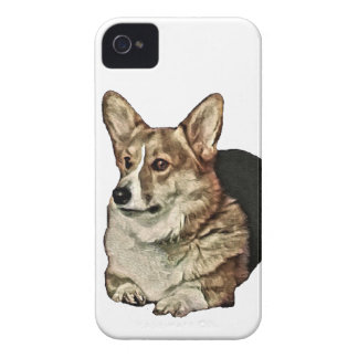 Capa Para iPhone 4 Case-Mate Assento Tricolor do Corgi de Galês