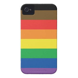 Capa Para iPhone 4 Case-Mate Bandeira expandida LGBT customizável do arco-íris
