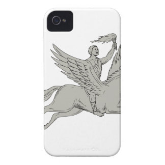 Capa Para iPhone 4 Case-Mate Bellerophon que monta Pegasus que guardara o