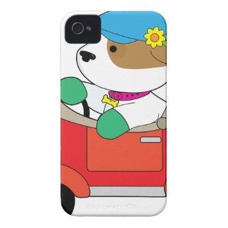 Capa Para iPhone 4 Case-Mate Carro do filhote de cachorro
