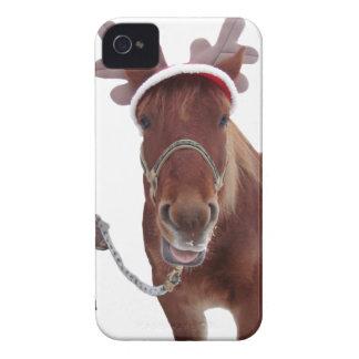 Capa Para iPhone 4 Case-Mate Cervos do cavalo - cavalo do Natal - cavalo