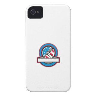 Capa Para iPhone 4 Case-Mate Círculo da bandeira dos EUA da chave de tubulação
