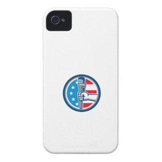 Capa Para iPhone 4 Case-Mate Círculo ereto R da bandeira dos EUA da chave de