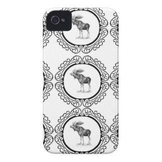 Capa Para iPhone 4 Case-Mate conjunto de alces do touro