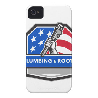 Capa Para iPhone 4 Case-Mate Crista da bandeira dos EUA da chave de tubulação