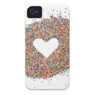 Capa Para iPhone 4 Case-Mate Design do coração dos Sparkles por Comocean