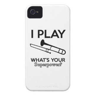 Capa Para iPhone 4 Case-Mate design do trombone