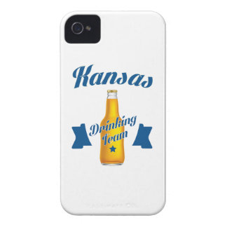 Capa Para iPhone 4 Case-Mate Equipe do bebendo de Kansas