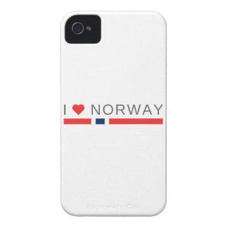 Capa Para iPhone 4 Case-Mate Eu amo Noruega