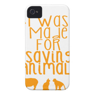Capa Para iPhone 4 Case-Mate Eu fui feito para animais de salvamento