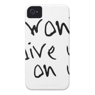 Capa Para iPhone 4 Case-Mate eu não darei acima em nós