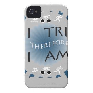Capa Para iPhone 4 Case-Mate Eu tri conseqüentemente mim sou Triathlon