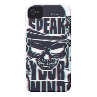Capa Para iPhone 4 Case-Mate fale seu crânio da mente