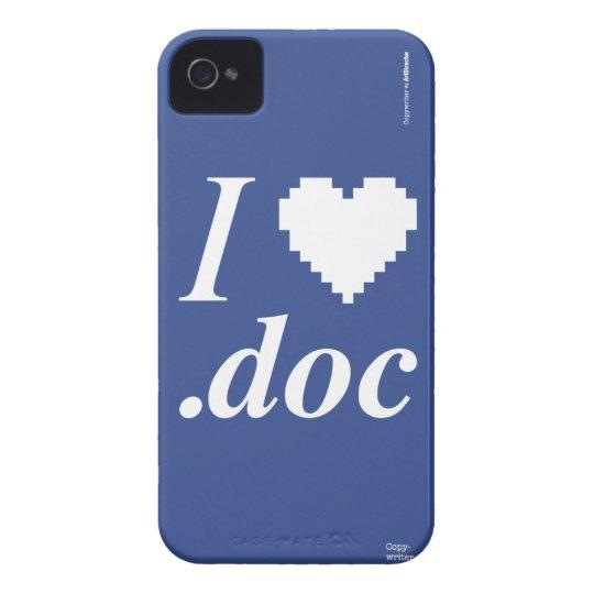 Capa Para iPhone 4 Case-Mate I Love .DOC