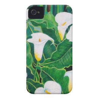 Capa Para iPhone 4 Case-Mate Lírios de Calla brancos