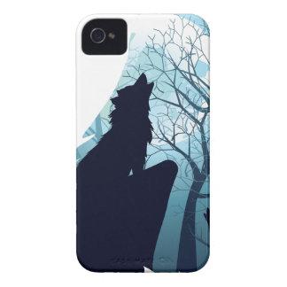 Capa Para iPhone 4 Case-Mate Lobo que urra com Forest2-01