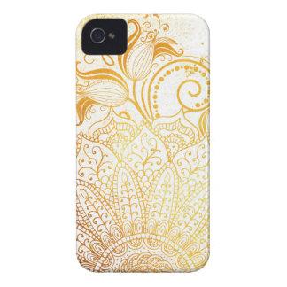 Capa Para iPhone 4 Case-Mate Mandala - escova dourada