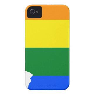 Capa Para iPhone 4 Case-Mate Mapa da bandeira de Illinois LGBT