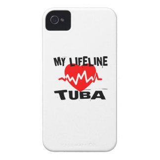 CAPA PARA iPhone 4 Case-Mate  MINHA LINHA DE VIDA DESIGN DA MÚSICA DA TUBA