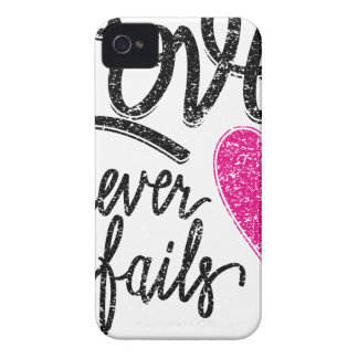 Capa Para iPhone 4 Case-Mate o amor nunca falha, coração do vintage