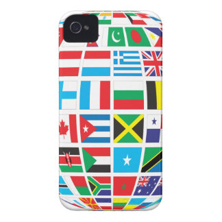 Capa Para iPhone 4 Case-Mate O mundo embandeira o globo