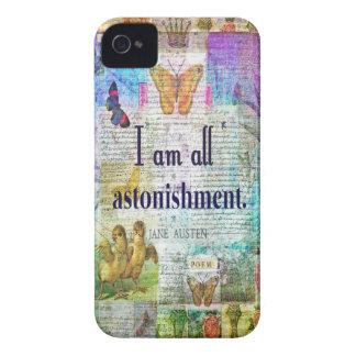 Capa Para iPhone 4 Case-Mate Orgulho de Jane Austen e citações do preconceito