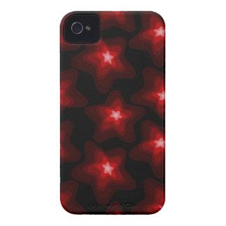 Capa Para iPhone 4 Case-Mate Preto vermelho 4 da estrela