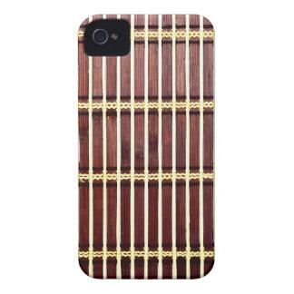 Capa Para iPhone 4 Case-Mate textura de bambu da esteira