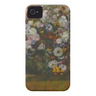 Capa Para iPhone 4 Case-Mate Uma mulher assentada ao lado de um vaso das flores
